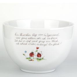 """Schale Poesie-Porzellan """"am Wegesrand"""""""