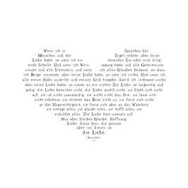 Holzstempel *Glaube, Hoffnung, Liebe*