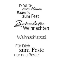 Clear-Stamp Set * Weihnachten 11*