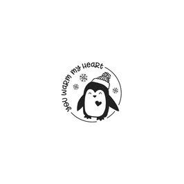 Holzstempel *Pinguin Karl*