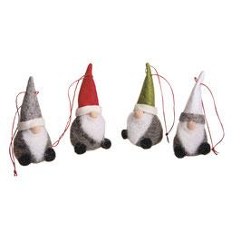 Süße kleine *Weihnachts-Filz Santas* zum Hängen!