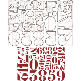 Sizzix Thinlits Set Zahlen *Stencil Numbers* T.Holtz
