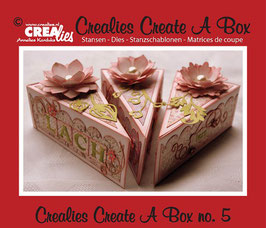 Crealies Create A Box Stanzschablonen-Set No. 5 *Piece of cake*