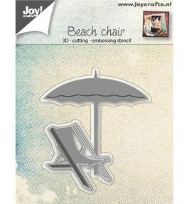 Stanzschablonen-Set *3D-Liegestuhl und Sonnenschirm*