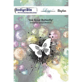 Hintergrundstempel *Ink Splat Butterfly*