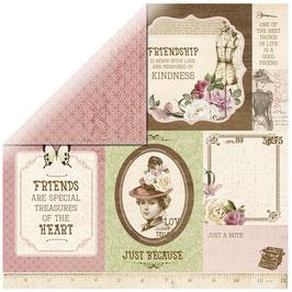 KaiserCraft Scrapbookingpapier Serie *Mademoiselle* Courture