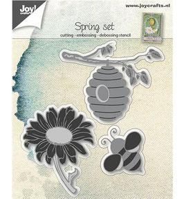 Stanzschablonen-Set *Blumen und Bienen*