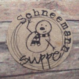 Stempel *Schneemannsuppe – Label*