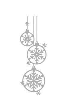 Stanzschablonen-Set * Weihnachtskugeln*