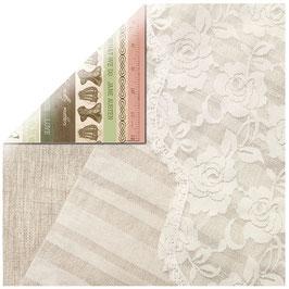 KaiserCraft Scrapbookingpapier Serie *Mademoiselle* Threadwork