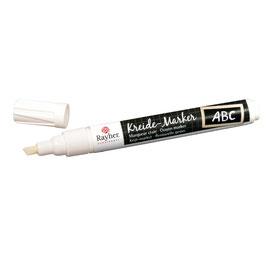 Kreide-Marker in weiß, silber und gold