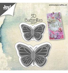 Stanzschablonen-Set *3D-Butterflies*!