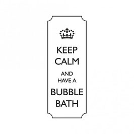 Holz-Stempel *Keep calm and have a bubble bath*