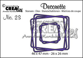 Cree-Lies Stanzschablonen-Set CLDR23  *Intertwined squares*