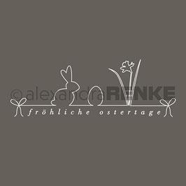 Holz-Typostempel *Fröhliche Ostertage*