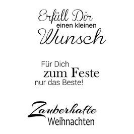 Clear-Stamp Set * Weihnachten 7*