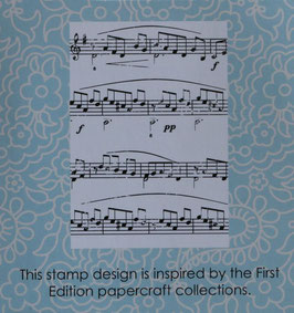 Trimcraft - Rubber Stamp A7 *Music Notes*!