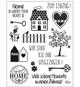 Clear-Stamp -  Silikon-Stempelset *Sweet Home*
