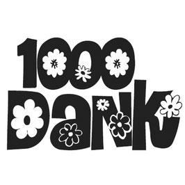 Mini-Holz-Stempel *1000 Dank*