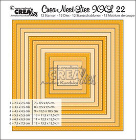 Crea-Nest-Lies Stanzschablonen-Set No. 22 XXL with *Stitchline*