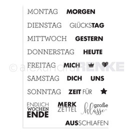 Clear Stamp *Wochentage (deutsch)*