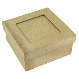 Pappmaché Schachtel FSC Recycled 100% *Passepartout Schachtel quadratisch*