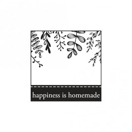 Holz-Stempel *happiness is homemade*