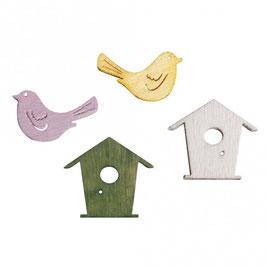 Holz-Streuteile Vögel & Vogelhäuser