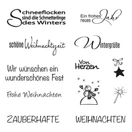 Stempelset Clear Stamp *Weihnachten/Winter*