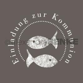 Holz-Motivstempel *Einladung Fisch*