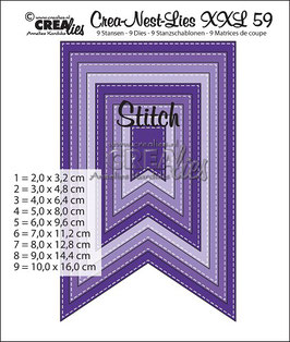Crea-Nest-Lies XXL Stanzschablonen No. 59 *Fishtail Stitch*