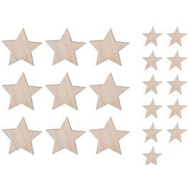 Holz-Streuteile *Sterne* 2 Größen
