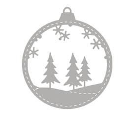 Stanzschablonen-Set * Weihnachtskugel mit Winterwald*