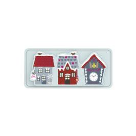 3D Papier-Accessoires *3 Häuser*