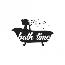 Holz-Stempel *bath time*