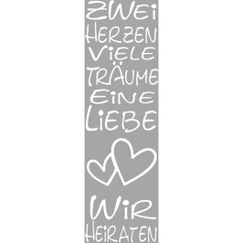Holzstempel *Zwei Herzen, Viele Träume*