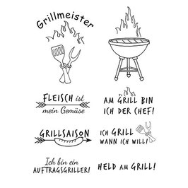 Clearstamp Set *Grillmeister*
