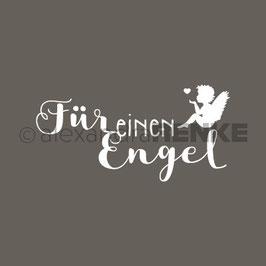 Holz-Typostempel *Für einen Engel*