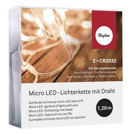 LED-Lichterkette Micro mit Draht - 10 oder 20 Lichter