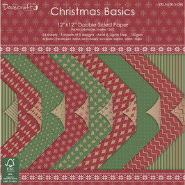 Dovecraft Scrapbooking-Block mit 24 Bögen *Christmas Basics*