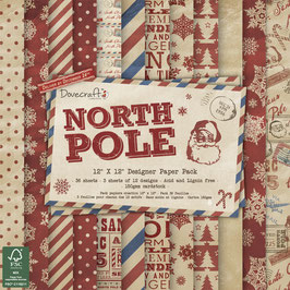 Dovecraft Scrapbooking-Block mit 36 Bögen *Scrap-Pack North Pole*