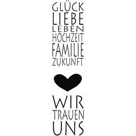 Holzstempel *Glück und Liebe*!