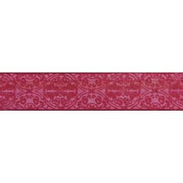 Dekoband Weihrauch 40mm breit mit formstabiler Kante in bordeaux