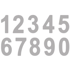Stanzschablonen Set *Classic Alphabet* Zahlen