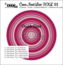 Crea-Nest-Lies XXL Stanzschablonenv-Set No. 33 *Double Stitch Circles*
