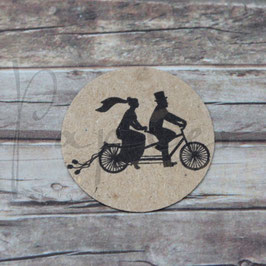 Stempel *Brautpaar auf Fahrrad*