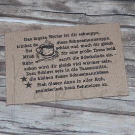 Stempel *Schneemannsuppe* Version 1