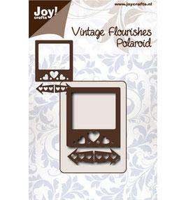 Stanz- und Prägeschablone *Vintage Flourishes - Polaroid / Foto*