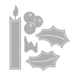 5-teiliges Stanzschablonen-Set *Adventskerze*