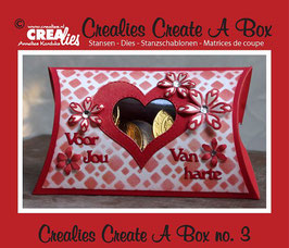 Crealies Create A Box Stanzschablonen-Set No. 3 *Pillow Box*